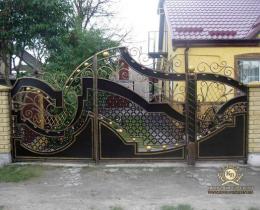 Кованые ворота в Воронеже №214