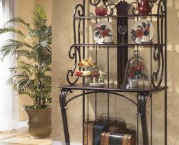 Кованые этажерки, стеллажи, консоли №25