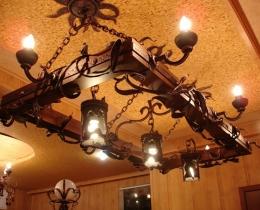 Кованые люстры, фонари, светильники, подсвечники №113