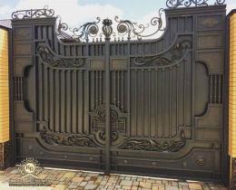 Кованые ворота в Воронеже №215