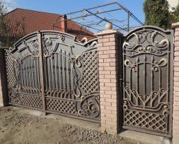 Кованые ворота в Воронеже №123
