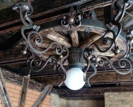 Кованые люстры, фонари, светильники, подсвечники №114