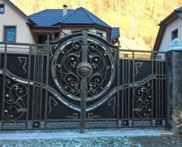 Кованые ворота в Воронеже №18