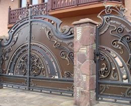 Кованые ворота в Воронеже №1