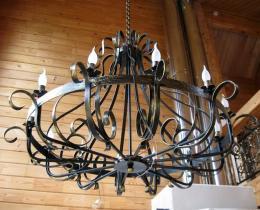 Кованые люстры, фонари, светильники, подсвечники №10