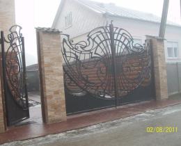 Кованые ворота в Воронеже №127