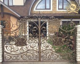 Кованые ворота в Воронеже №125