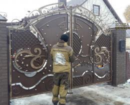 Кованые ворота в Воронеже №13