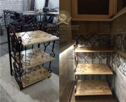 Кованые этажерки, стеллажи, консоли №119