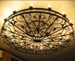 Кованые люстры, фонари, светильники, подсвечники №116