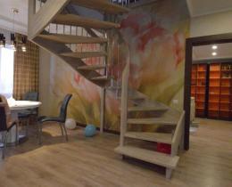 Деревянные лестницы №44