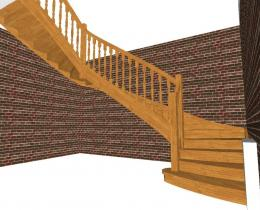 Деревянные лестницы №58
