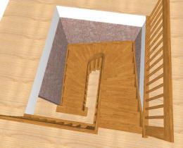 Деревянные лестницы №61