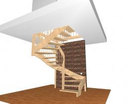 Деревянные лестницы №66