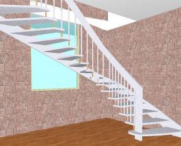 Деревянные лестницы №76