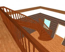 Деревянные лестницы №78