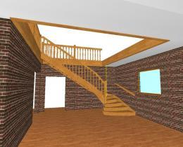 Деревянные лестницы №82