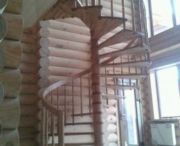 Деревянные лестницы №100