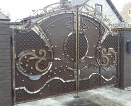 Кованые ворота в Воронеже №15