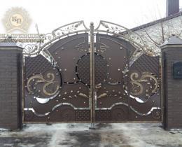 Кованые ворота в Воронеже №16