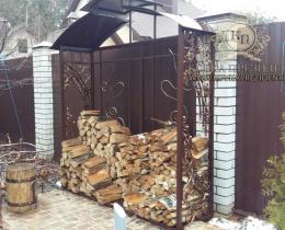 Кованые каминные наборы, дровницы, решетки №6