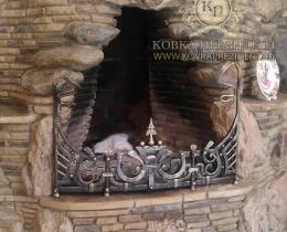 Кованые каминные наборы, дровницы, решетки №7