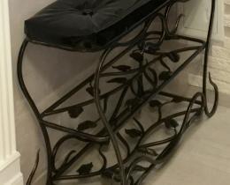 Кованые банкетки и обувницы №66