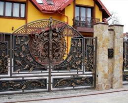 Кованые ворота в Воронеже №87
