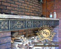 Кованые каминные наборы, дровницы, решетки №40