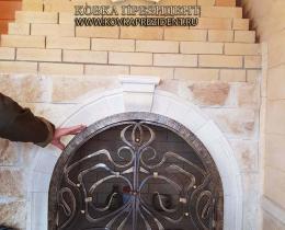 Кованые каминные наборы, дровницы, решетки №58