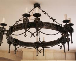 Кованые люстры, фонари, светильники, подсвечники №117