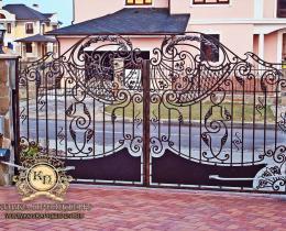 Кованые ворота в Воронеже №129