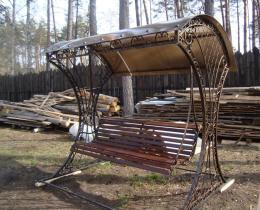 Кованые качели в Воронеже №7