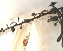 Кованые карнизы, багеты, гардины №2