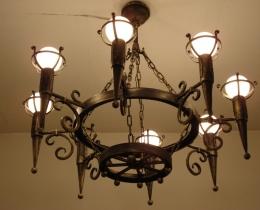 Кованые люстры, фонари, светильники, подсвечники №120