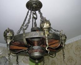 Кованые люстры, фонари, светильники, подсвечники №121