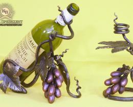 Кованые винницы, подставки под вино №1
