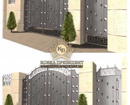 Кованые ворота в Воронеже №170