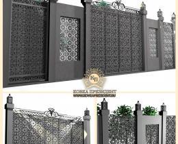 Кованые ворота в Воронеже №171
