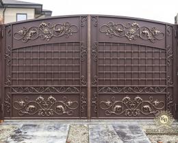 Кованые ворота в Воронеже №216