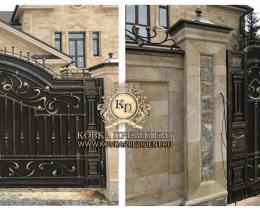 Кованые ворота в Воронеже №2