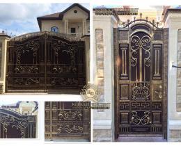 Кованые ворота в Воронеже №4