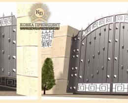 Кованые ворота в Воронеже №172