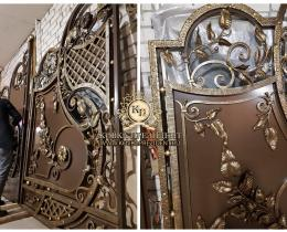 Кованые ворота в Воронеже №176