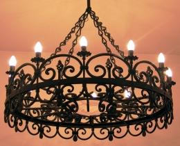 Кованые люстры, фонари, светильники, подсвечники №118