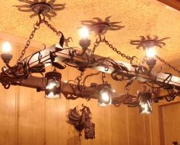 Кованые люстры, фонари, светильники, подсвечники №119