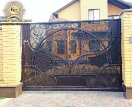Кованые ворота в Воронеже №130