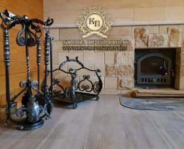 Кованые каминные наборы, дровницы, решетки №62