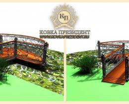 Кованый мостики в Воронеже №42