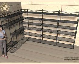 Кованые этажерки, стеллажи, консоли №125